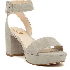 Louise et Cie Block Platform Gray Suede Sandal